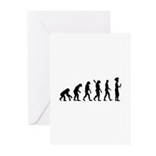 Evolution cook chef Greeting Cards (Pk of 20)