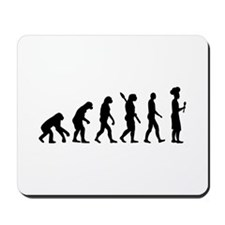 Evolution cook chef Mousepad