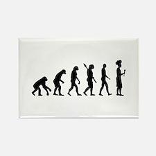 Evolution cook chef Rectangle Magnet (100 pack)