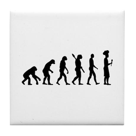 Evolution cook chef Tile Coaster