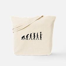 Evolution cook chef Tote Bag