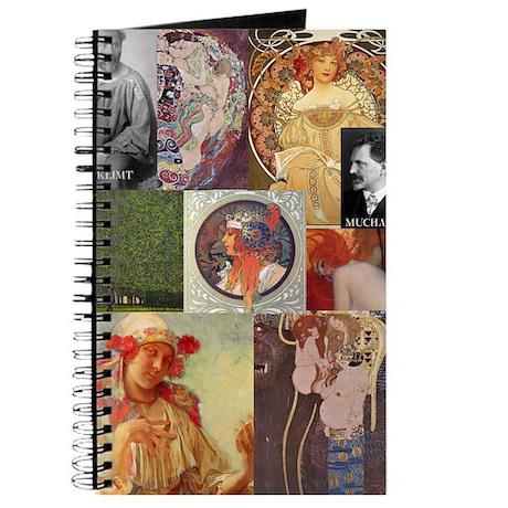 Art Nouveau Collage Journal