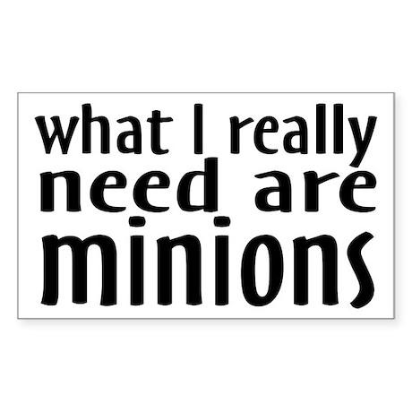 I Need Minions Sticker (Rectangle)