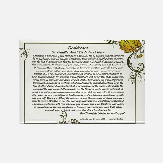 The Desiderata oem by Max Ehrmann Rectangle Magnet