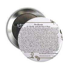 "The Desiderata oem by Max Ehrmann 2.25"" Button"