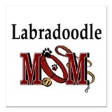 Labradoodle Square Car Magnets