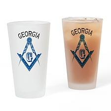Georgia Freemason Drinking Glass
