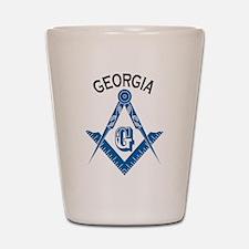 Georgia Freemason Shot Glass