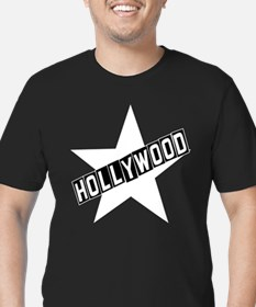 hollywood sign black T-Shirt
