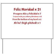 Feliz Navidad song Yard Sign