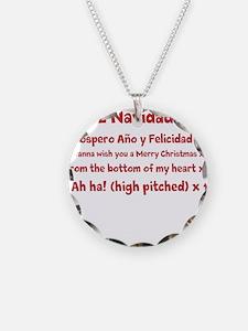 Feliz Navidad song Necklace