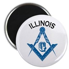 "Illinois Freemason 2.25"" Magnet (10 pack)"
