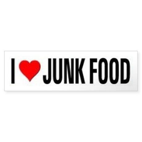 I Love Junk Food Bumper Sticker