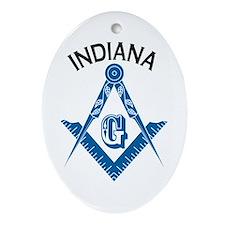 Indiana Freemason Ornament (Oval)