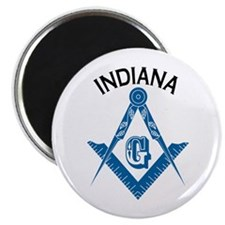 "Indiana Freemason 2.25"" Magnet (10 pack)"