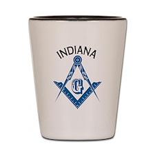 Indiana Freemason Shot Glass