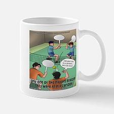 Unfunny Tennis Cartoon Mug