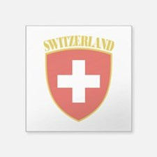 """Switzerland Arms.png Square Sticker 3"""" x 3"""""""