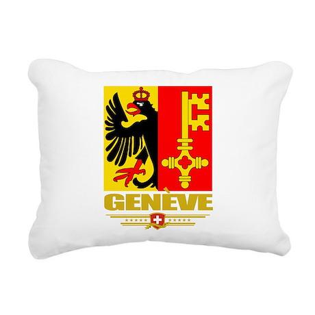 Geneva (Flag 10).png Rectangular Canvas Pillow