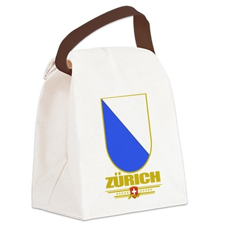 Zurich (Flag 10).png Canvas Lunch Bag