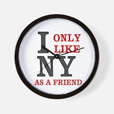 New York Friend Wall Clock