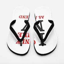 New York Friend Flip Flops