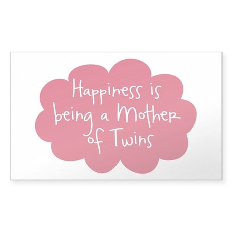 A Mother of Twins Oval Sticker