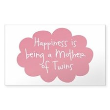 A Mother of Twins Oval Stickers
