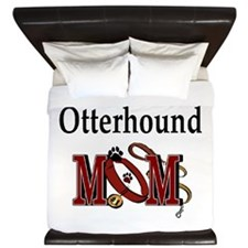 Otterhound Mom King Duvet