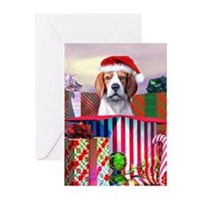 Beagle Claus Christmas Greeting Cards (Pk of 10)
