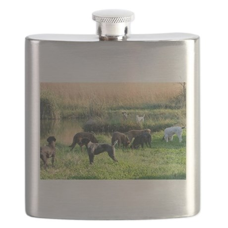 Hunting dog Flask, GWP, Chessie's, labs and pointe