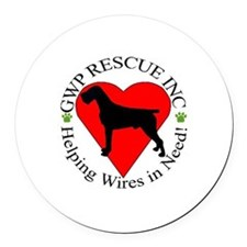 GWP Rescue Round Car Magnet