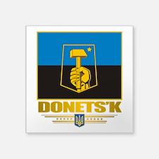 "Donetsk COA 2.png Square Sticker 3"" x 3"""