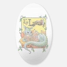 Dragon Reader Oval Sticker (in clear or white)