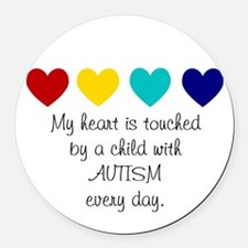 My Heart... Round Car Magnet