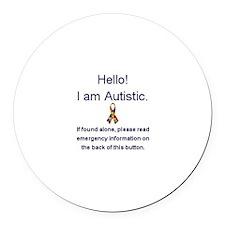 Emergency Autism Round Car Magnet