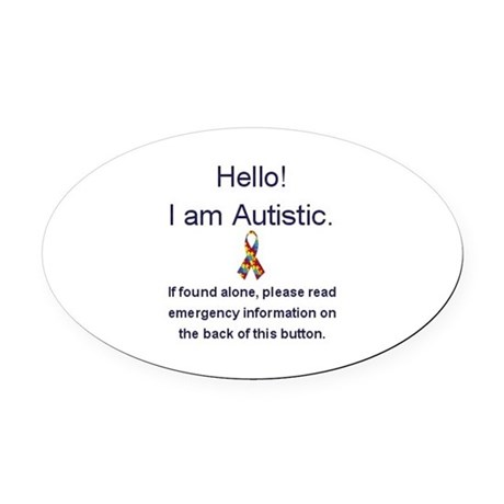 Emergency Autism Oval Car Magnet