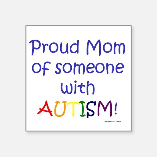 "Cute Austism awareness Square Sticker 3"" x 3"""