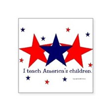 "Cute Teach for america Square Sticker 3"" x 3"""
