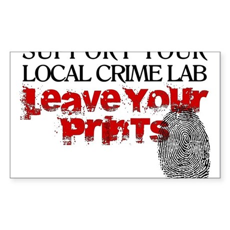 Crime Lab - Leave Your Prints Oval Sticker