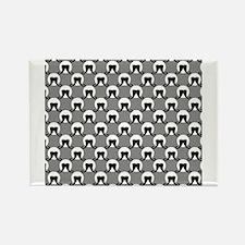 Mustache Dots Rectangle Magnet (10 pack)
