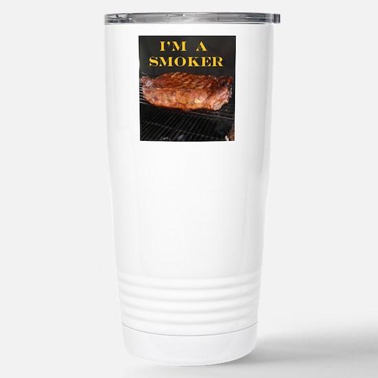 Smoked Ribs Stainless Steel Travel Mug