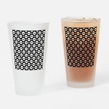 Mustache Polka Dots Drinking Glass