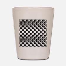 Mustache Polka Dots Shot Glass