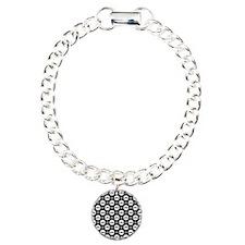 Mustache Polka Dots Charm Bracelet, One Charm
