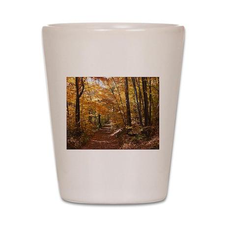 Autumn Trails Shot Glass