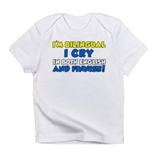 bilingual cry english and finnish Infant T-Shirt