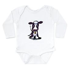 Holstein Cow Long Sleeve Infant Bodysuit