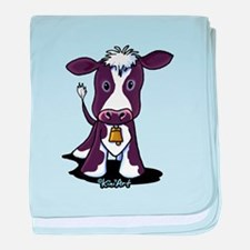 Holstein Cow baby blanket