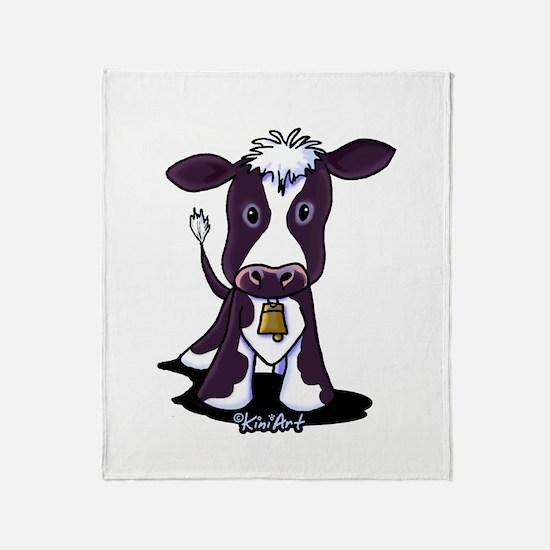 Holstein Cow Throw Blanket